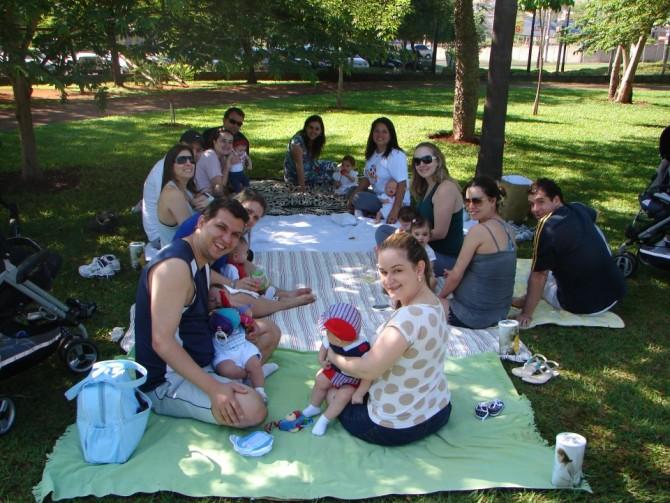 Shantala em família no parque…Eba!
