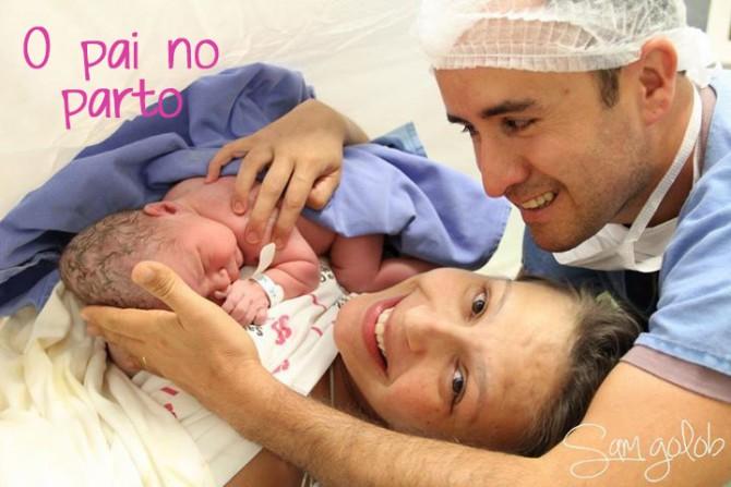A importância do pai na hora do parto