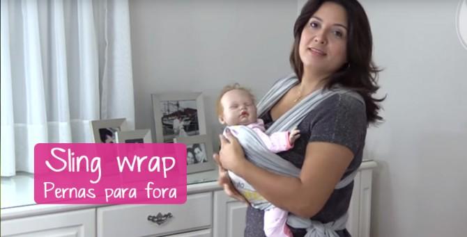 Sling wrap – Pernas para fora