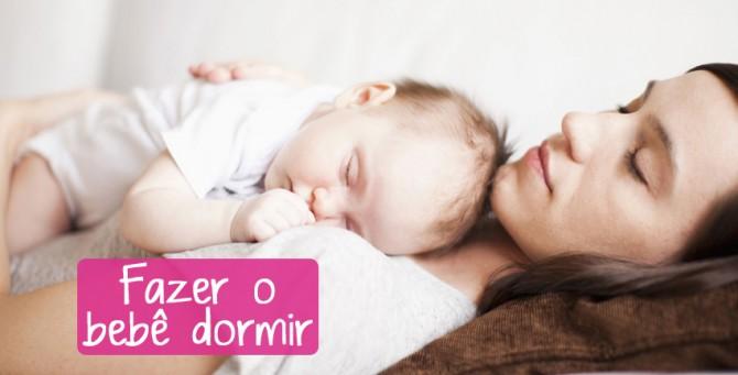 Como fazer o bebê pegar no sono