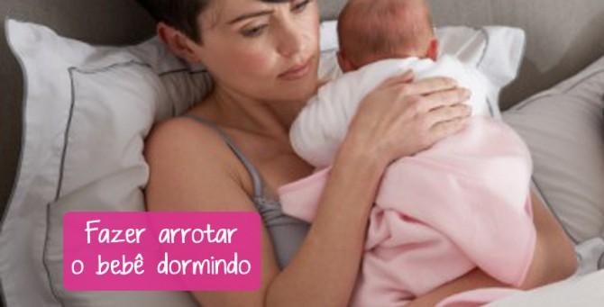 Como fazer arrotar o bebê dormindo